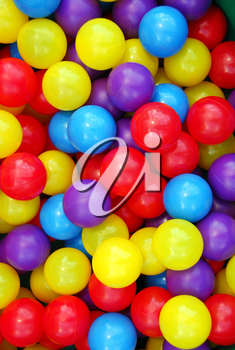 Background of colorful plastic balls at indoor playground