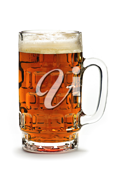 Full beer glass isolated on white background