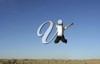 A man jumping in the air