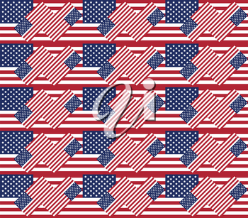 Patriotic USA seamless pattern for background or texture made from american flags
