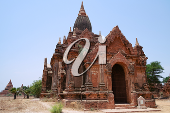 Ancient Buddhist Temple in Bagan, Myanmar, Southeast Asia