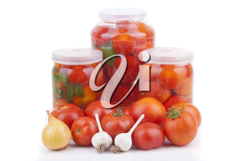 Fresh and canned tomatoes.