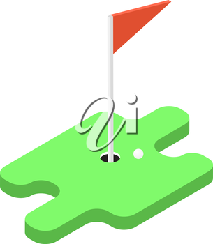 Game of golf. Vector illustration .