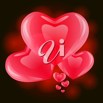 Valentine's day or Wedding vector background with hearts