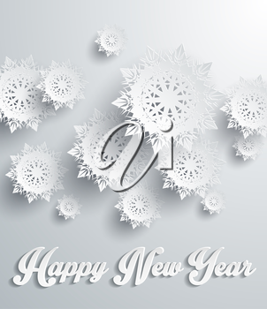 Snowflakes background for winter and New Year, christmas theme. Snow, christmas, snowflake background, snowflake winter. 3D paper snowflakes. Happy New Year. Silver snowflake. Snowflakes shadow