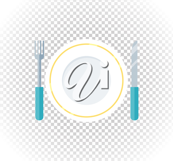 Plate fork knife design flat icon. Food plate, dinner plate isolated, kitchen and restaurant, lunch dining fork knife plate vector illustration