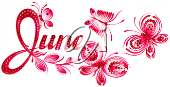 Royalty Free Clipart Image of June