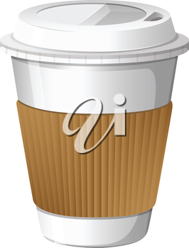 Illustration of a cup of coffee on a white background