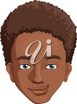 Illustration of an african-american guy on a white background