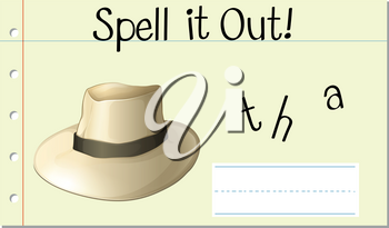 spell it out hat illustration