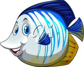 Fish with happy face illustration
