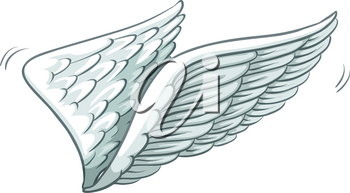 A plain drawing of wings on a white background