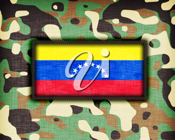 Amy camouflage uniform with flag on it, Venezuela