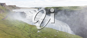 Gullfoss waterfall in the southwest of Iceland