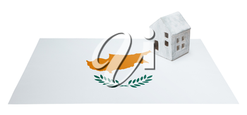 Small house on a flag - Living or migrating to Cyprus