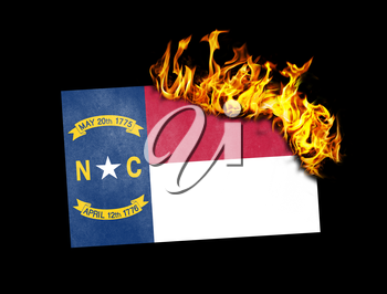 Flag burning - concept of war or crisis - North Carolina