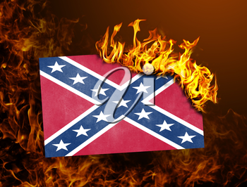 Flag burning - concept of war or crisis - Confederate flag