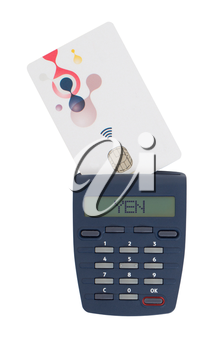 Banking at home, card reader for reading a bank card - Yen