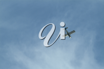 Stock Photo of a Small Plane in Flight