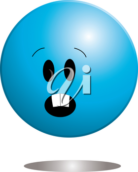 Clip Art Image of a Cute Little Ball Shaped Character With Surprised Expression