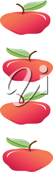 Clip Art Illustration of a Page Banner of Rosy Apples