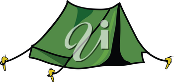 Clip Art Illustration of a Pup Tent