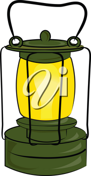 Clip Art Illustration of a Camping Lantern