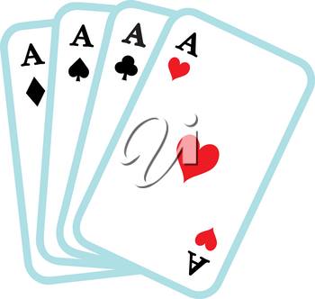 Clipart Illustration of Playing Cards
