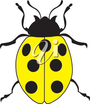 Royalty Free Clipart Illustration of a Yellow Ladybug