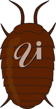 Royalty Free Clipart Illustration of a Pill Bug