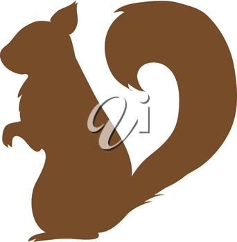 Clipart Illustration of a Squirrel