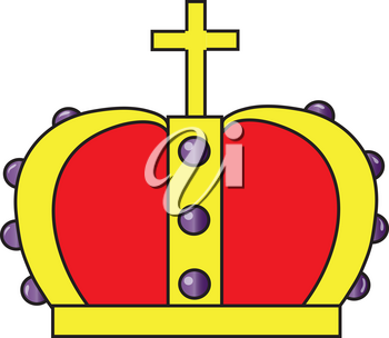 Clipart Illustration of a Crown