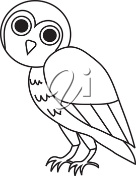 Clipart Illustration of a Perched Owl