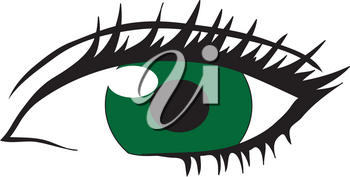 Clipart Illustration of a Womans Eye