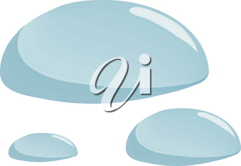 Clip Art Illustration Of Droplets Of Water