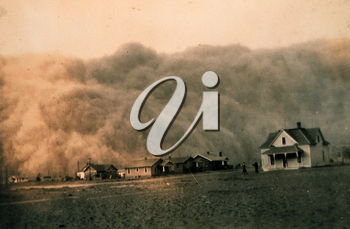 Dust storm approaching Stratford, Texas, April 18, 1935. Image ID: theb1365, Historic C&GS Collection. Credit: NOAA George E. Marsh Album.