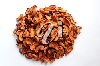 dried apples  isolated on the white background