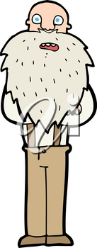 Royalty Free Clipart Image of a Bearded Old Man