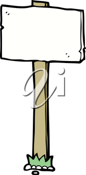 Royalty Free Clipart Image of a Signpost