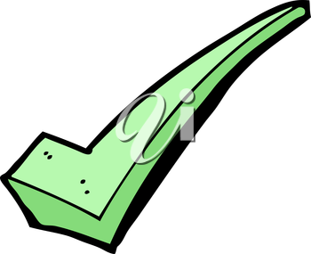 Royalty Free Clipart Image of a Check Mark