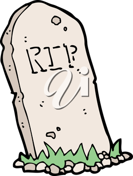 Royalty Free Clipart Image of a Headstone