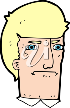 Royalty Free Clipart Image of a Man's Head
