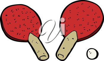 Royalty Free Clipart Image of Tennis Table Paddles