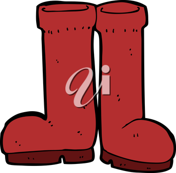 Royalty Free Clipart Image of Boots