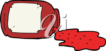 Royalty Free Clipart Image of Spilled Jam