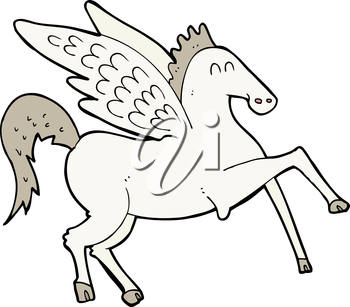 Royalty Free Clipart Image of Pegasus