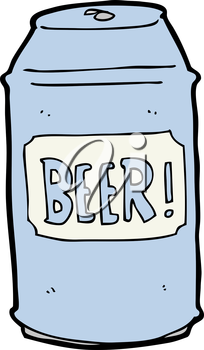 Royalty Free Clipart Image of a Can of Beer