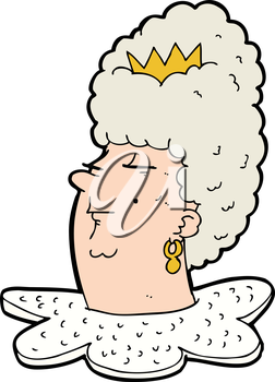 Royalty Free Clipart Image of a Queen's Head