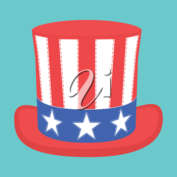 Royalty Free Clipart Image of an Independence Hat