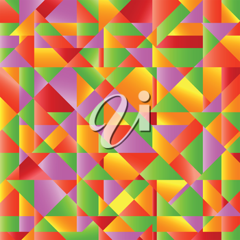 colorful illustration abstract mosaic background for your design